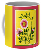 Wild Roses On Yellow With Borders Coffee Mug