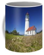 Wildflowers And Cape Blanco Lighthouse Coffee Mug