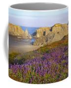 Wildflowers And Rock Formations Along Coffee Mug
