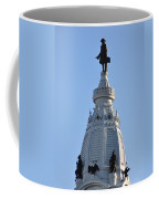 William Penn - On Top Of City Hall Coffee Mug by Bill Cannon