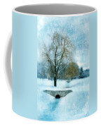 Willow Trees By Stream In Winter Coffee Mug