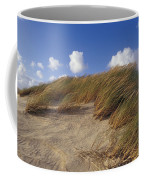 Wind Blown Grass Tussocks Precariously Coffee Mug