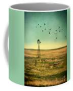 Windmill And Birds Coffee Mug