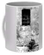 Window And Sidewalk Bw Coffee Mug