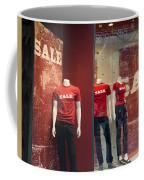 Window Display Sale With Mannequins No.0112 Coffee Mug