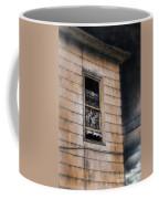 Window In Old House Stormy Sky Coffee Mug by Jill Battaglia
