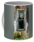 Window In Old Wall Coffee Mug by Jill Battaglia