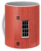 Window In Red Wall Coffee Mug