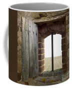 Window Of A Derelict House Overlooking Field Coffee Mug