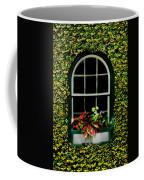 Window On An Ivy Covered Wall Coffee Mug