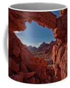 Window On The Valley Of Fire Coffee Mug
