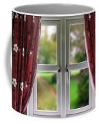 Window With Curtains Coffee Mug