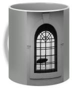 Windows On The Beach In Black And White Coffee Mug