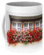 Windows With Red Flowers Coffee Mug