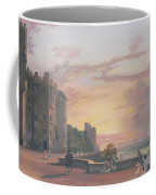 Windsor Castle North Terrace Looking West At Sunse Coffee Mug