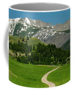 Windy Road To The Crazy Mountains Coffee Mug