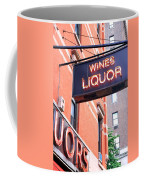 Wines And Spirits Sign Coffee Mug