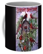 Winter Birdhouse Coffee Mug