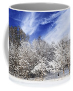 Winter Forest Covered With Snow Coffee Mug