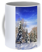 Winter Forest Under Snow Coffee Mug by Elena Elisseeva
