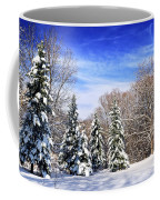 Winter Forest With Snow Coffee Mug
