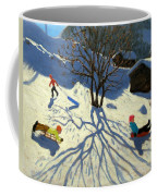 Winter Hillside Morzine France Coffee Mug