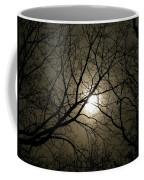 Winter Moon On A Cold Foggy Winter Night Coffee Mug