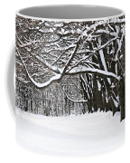 Winter Park With Snow Covered Trees Coffee Mug