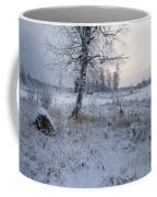 Winter Scene With Snow-covered Grasses Coffee Mug