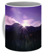 Winter Sun Winking Over The Mountains Coffee Mug