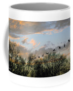 Winter Sunset  Silhouette Coffee Mug by Brian Wallace
