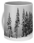 Winter Trees On Mount Washington - Bw Coffee Mug