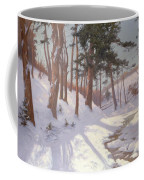Winter Woodland With A Stream Coffee Mug
