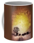 Wintery Road Sunrise Coffee Mug by Jill Battaglia