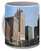 Wisconsin River Brige With Flags Coffee Mug