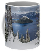 Wizard Island Through Trees Coffee Mug