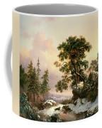 Wolves In A Winter Landscape Coffee Mug