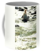 Woman Admist A Torrent Coffee Mug by Joana Kruse