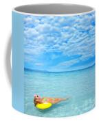 Woman And Ocean Coffee Mug