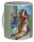 Woman Doing Her Hair Coffee Mug