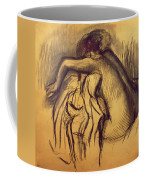 Woman Drying Coffee Mug by Edgar Degas