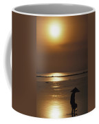 Woman In Conical Hat Collecting Shell Coffee Mug
