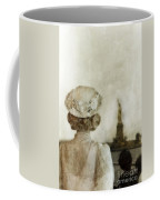 Woman In Hat Viewing The Statue Of Liberty  Coffee Mug by Jill Battaglia