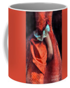 Woman In Red 18th Century Gown Coffee Mug