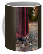 Woman In Vintage Clothing On Cobbled Street Coffee Mug