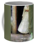 Woman In Vintage Victorian Era Dress In Doorway Coffee Mug