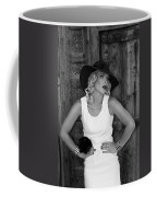 Woman In White  Bw Coffee Mug