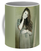 Woman In White Mask Wearing 1930s Dress Coffee Mug
