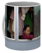 Woman On Bus Laos Coffee Mug
