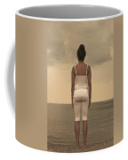 Woman On The Beach Coffee Mug by Joana Kruse
